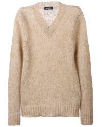 Raf Simons - Natural V-neck Sweater for Men - Lyst