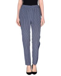 Marc By Marc Jacobs - Blue Casual Trouser - Lyst