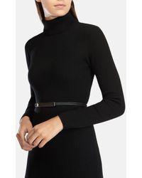 Karen Millen | Green Skinny Calf Hair Belt | Lyst