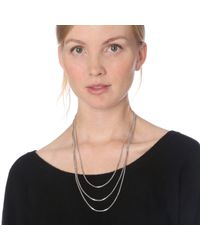 MZ Wallace | Metallic Saskia Diez Very Long Fade Loop Silver Necklace | Lyst