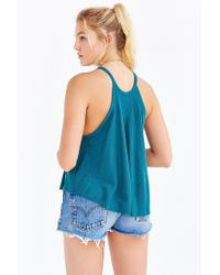 Truly Madly Deeply - Green High-neck Swingy Tank Top - Lyst