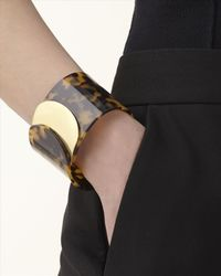 Jaeger | Brown Tortoiseshell Rounded Cuff | Lyst