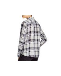 Current/Elliott - Gray Slim Boy Plaid Button-down Shirt - Lyst