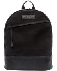 Want Les Essentiels De La Vie - Black Canvas & Leather Kastrup Backpack for Men - Lyst