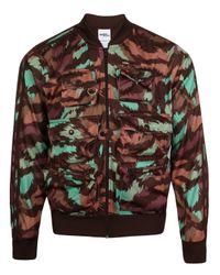 Jeremy Scott | Green X Adidas Cartoon Camo Fisherman Bomber Jacket | Lyst