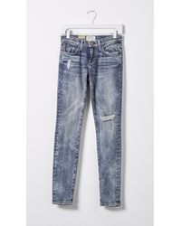 Current/Elliott - Blue The Ankle Skinny - Lyst