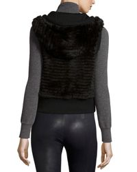 Gorski | Black Hooded Rabbit-fur Vest | Lyst
