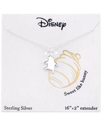 Disney | Metallic Winnie The Pooh Necklace In Sterling Silver | Lyst