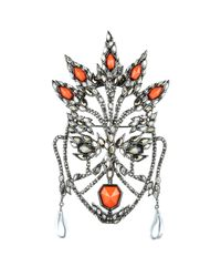 Alexis Bittar | Metallic Cubist Mask Pin | Lyst