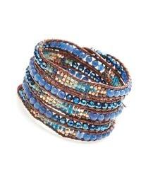 Nakamol | Multicolor Marauder Wrap Bracelet-cobalt | Lyst