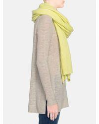 White + Warren | Yellow Cashmere Travel Wrap | Lyst