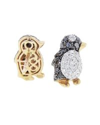 Pippo Perez | Metallic Diamond Penguin Studs | Lyst