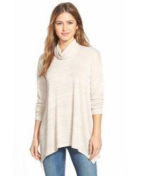 Kensie - Natural Space Dye Turtleneck Sweater - Lyst