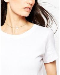 ASOS - Metallic Pack Of 2 Open Circle Filigree Choker Necklaces - Lyst