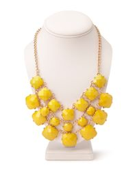 Forever 21 - Yellow Luxe Faux Stone Bib Necklace - Lyst