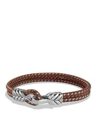 David Yurman | Metallic Chevron Two-row Bracelet In Brown for Men | Lyst