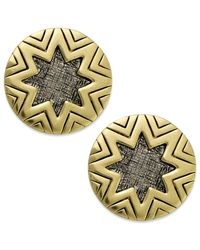 House of Harlow 1960 | Metallic Two-tone Sunburst Button Post Earrings | Lyst