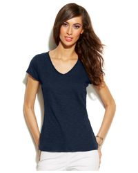 INC International Concepts | Blue V-neck T-shirt, Only At Macy's | Lyst