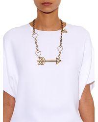 Lanvin - Metallic 125 Charms Arrow Necklace - Lyst