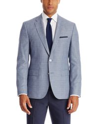 BOSS - Blue 'jarett' | Regular Fit, Italian Virgin Wool Blend Sport Coat for Men - Lyst