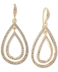 Carolee - Metallic Gold-tone Double Teardrop Earrings - Lyst