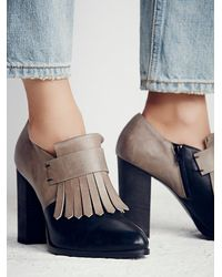 Free People - Blue Fp Collection Womens Bengal Kilty Block Heel - Lyst