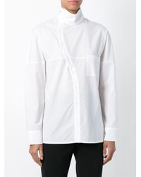 Hache - White Turtle Neck Shirt - Lyst