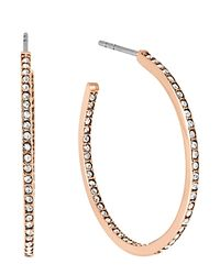 Michael Kors - Pink Pavé Small Inside Out Hoop Earrings - Lyst