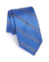 Michael Kors - Blue Stripe Silk Tie for Men - Lyst