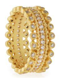 Freida Rothman | Metallic 14k Vermeil Cz Bezel Pave Ring | Lyst