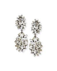 DANNIJO - Metallic Mayfield Crystal Drop Earrings - Lyst