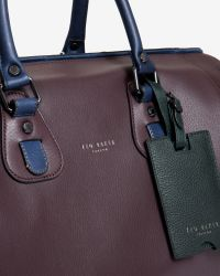 Ted Baker | Purple Leather Holdall for Men | Lyst