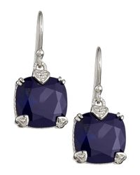 Judith Ripka | Blue Corundum Cushion Earrings | Lyst