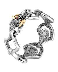 John Hardy   Metallic Naga Gold & Silver Large Scale Link Bracelet   Lyst