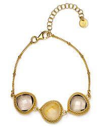 Coralia Leets Metallic Triple Stone Bracelet