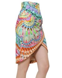 Manish Arora - Multicolor Printed Beaded Peached Cotton Wrap Skirt - Lyst