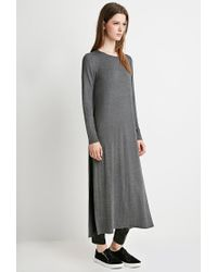 Forever 21 | Gray Heathered Side-slit Tunic | Lyst