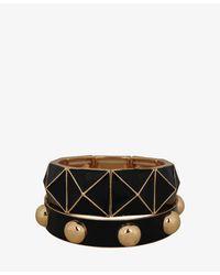 Forever 21 | Metallic Studded Pyramid Bracelet Set | Lyst
