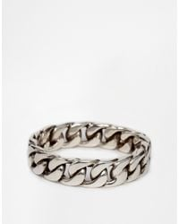 Seven London | Metallic Chain Link Ring In Sterling Silver for Men | Lyst