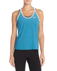 Nike | Blue 'slam Breathe' Dri-fit Tank | Lyst