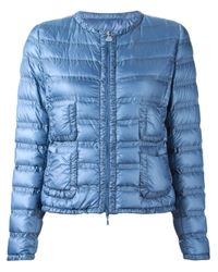 Moncler | Blue Lissy Quilted Shell Down Jacket | Lyst