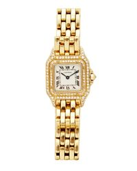 Camilla Dietz Bergeron - Cartier Panther Watch in 18k Yellow Gold and Diamond - Lyst