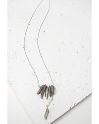 Forever 21 - Metallic Faux Crystal Necklace - Lyst
