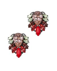 Anton Heunis | Multicolor Jacqueline Swarovski Crystal Earrings | Lyst