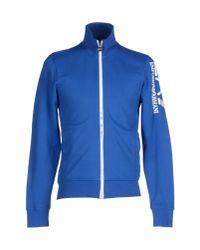 EA7 - Blue Sweatshirt for Men - Lyst