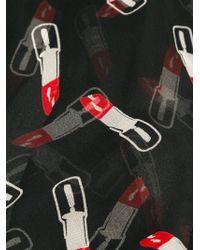 Saint Laurent | Black Lipstick Print Scarf | Lyst