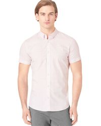 Calvin Klein | Pink Slim Fit Engineered Ombre Plaid Sportshirt for Men | Lyst