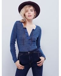 Free People | Blue Heirloom Womens Heirloom Desert Rider Top | Lyst