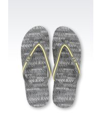 Armani Jeans | Gray Thong Sandal for Men | Lyst