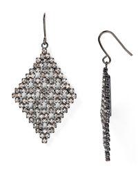 Lauren by Ralph Lauren | Metallic Pavé Drop Earrings | Lyst